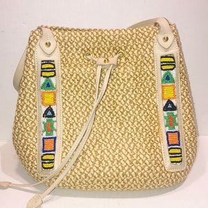 ERIC JAVITS squished aztec beads shoulder bag purs
